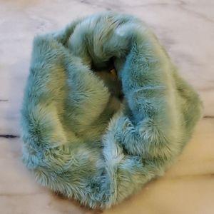 Faux fur pastel scarf